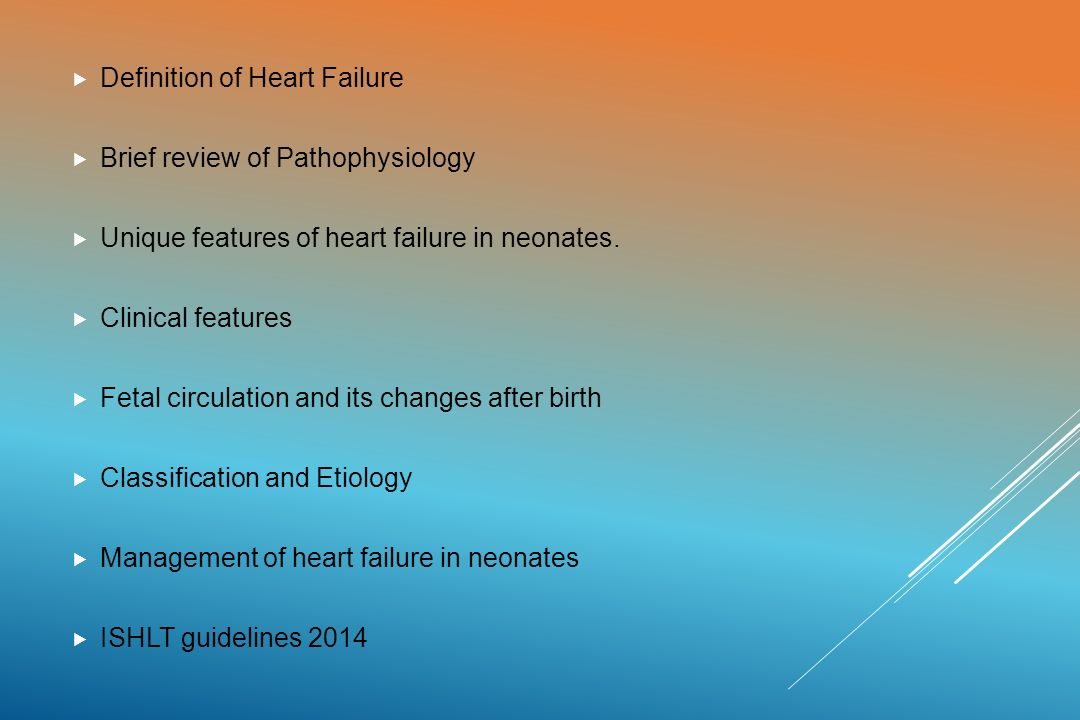 Heart Failure In Infants And Neonates Ppt Video Online