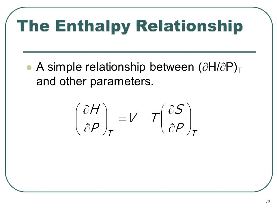 Relationship Between Entropy And Enthalpy