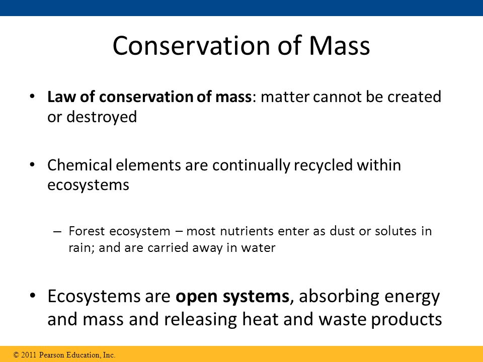 Conservation Matter And Energy
