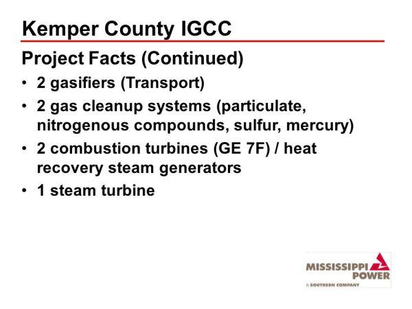 Mississippi Power Kemper County IGCC Plant - ppt video ...
