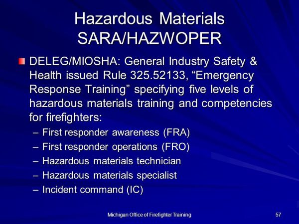 Office of Firefighter Training Firefighter I & II - ppt ...