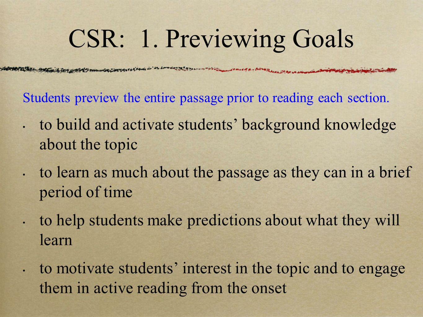 Collaborative Strategic Reading A Model For Content Area Reading