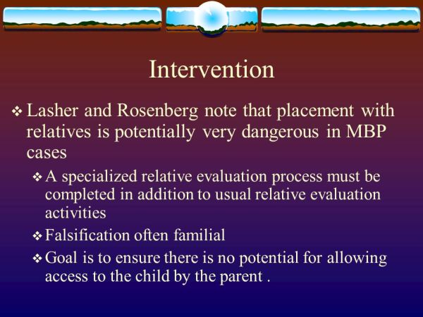 Pediatric condition falsification (PCF) + Factitious ...