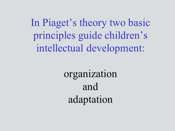 Cognitive Development: Piaget's and Vygotsky's Theories ...