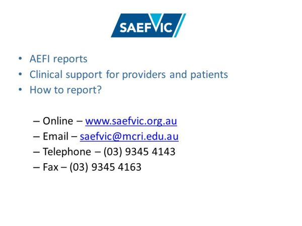 Vaccine Safety Update and introduction to Monash ...
