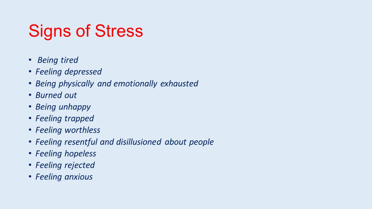 Can Stress Tire You Out