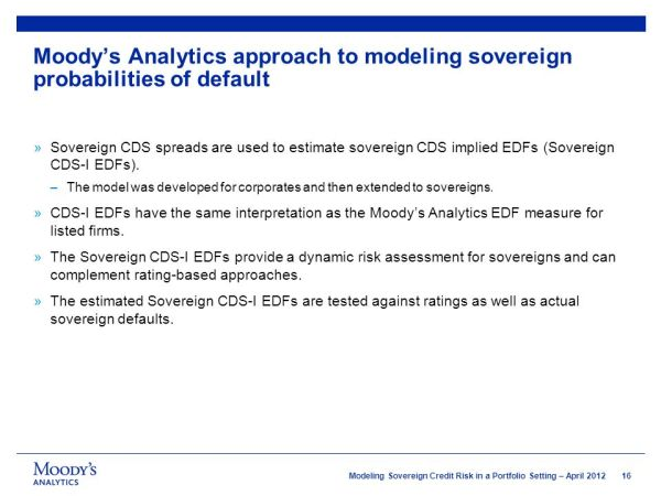 Modeling Sovereign Credit Risk in a Portfolio Setting ...