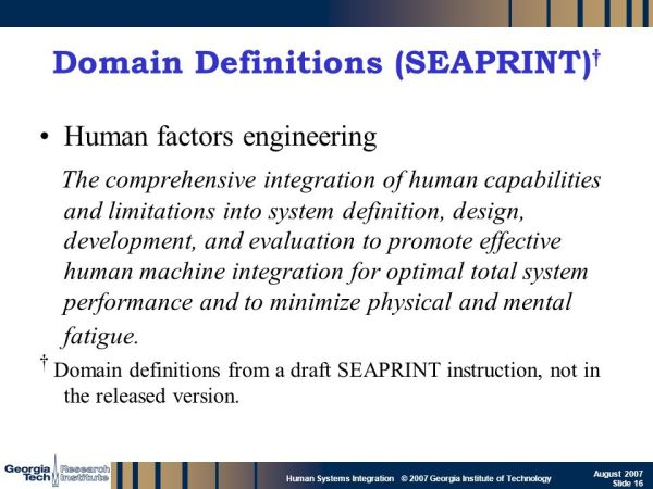 Human Systems Integration - ppt download