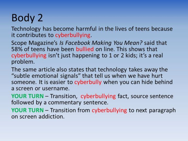 cyber bullying essay thesis Bullying essay thesis good thesis statement for bullying : from pinterest cyberbullying vs traditional bullying essay cyber bullying vs traditional bullying bullying has long been a problem in school but was usually confined to the school yard or the hallway.