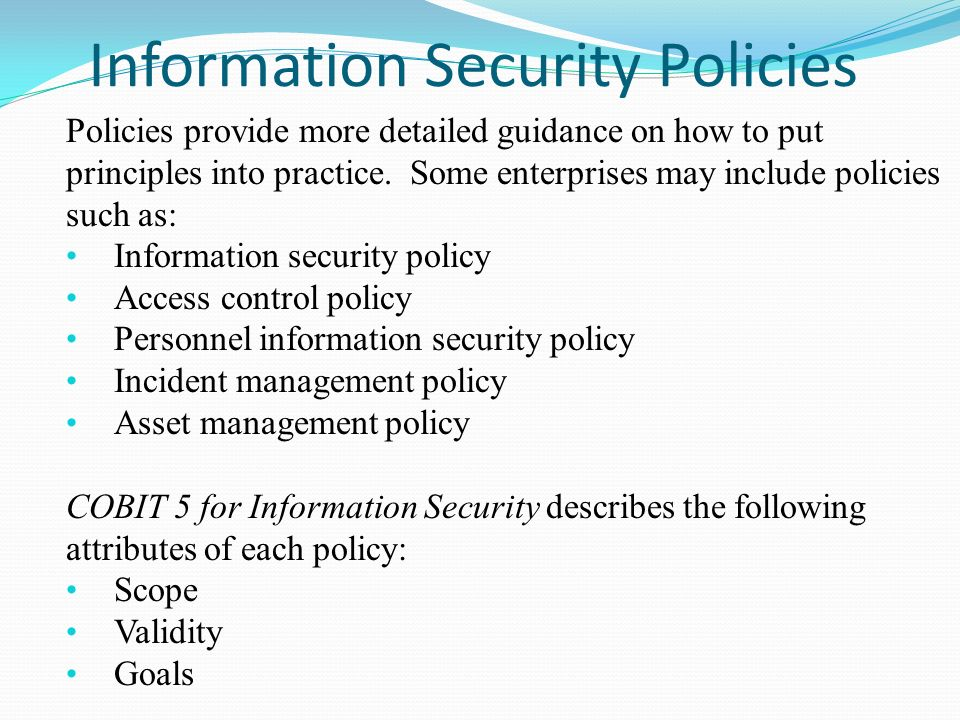 Information Ppt Security Policy