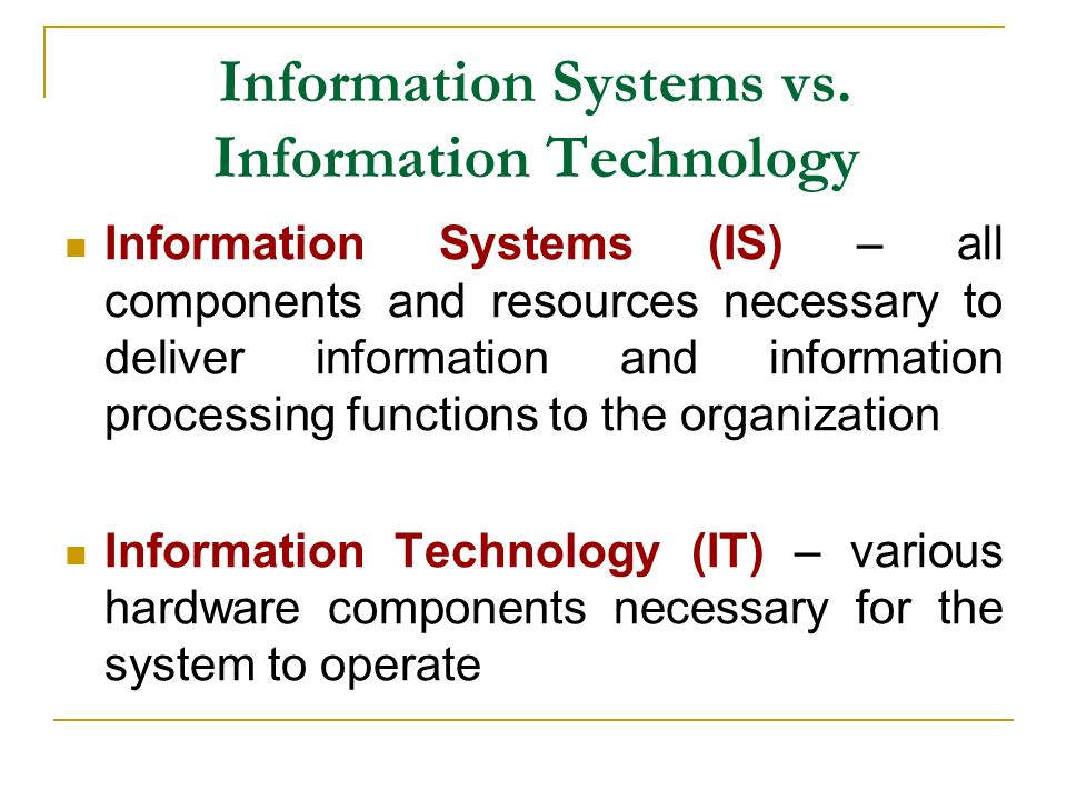 Information Security Vs Information Technology