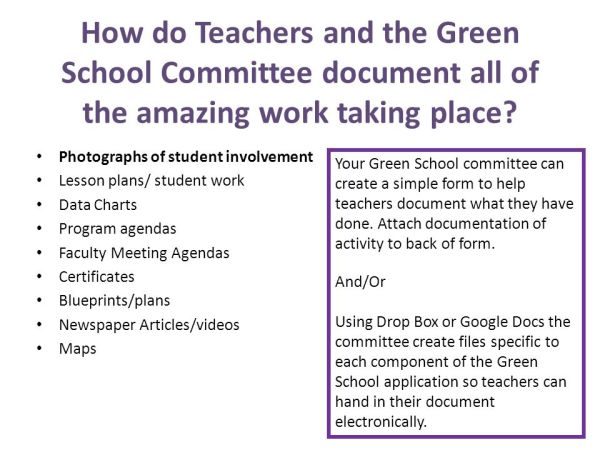 Maryland Green Schools Program and Baltimore City Schools ...