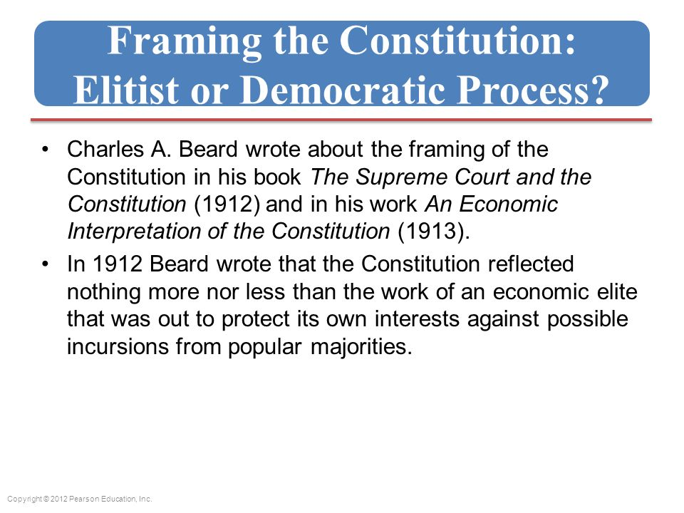 Charles A Beard Framing The Constitution Sparknotes | Siteframes.co
