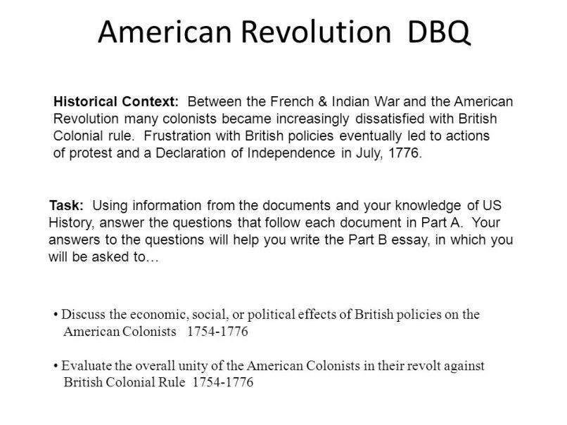 American Revolutionary War Essay Questions | Mistyhamel