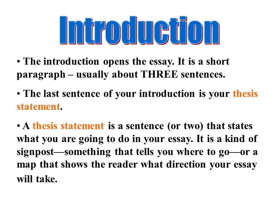 Topic of essay