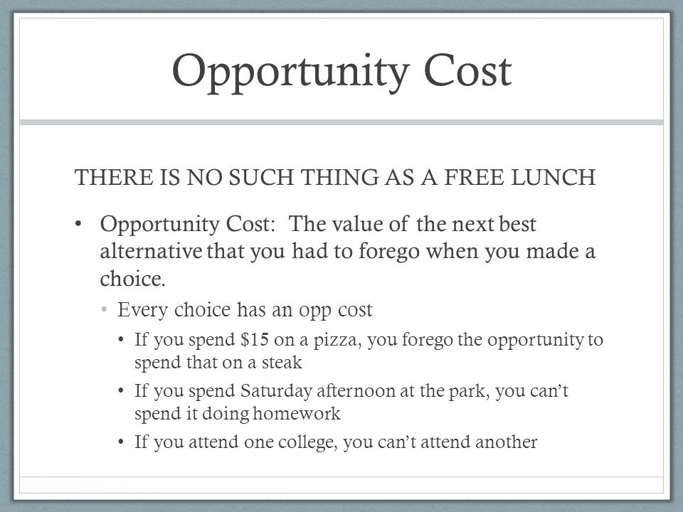 economics no such thing as a free lunch No such thing as a free lunch, revisited by edward l glaeser june 23, 2009 6:00 am june 23 edward l glaeser is an economics professor at harvard.