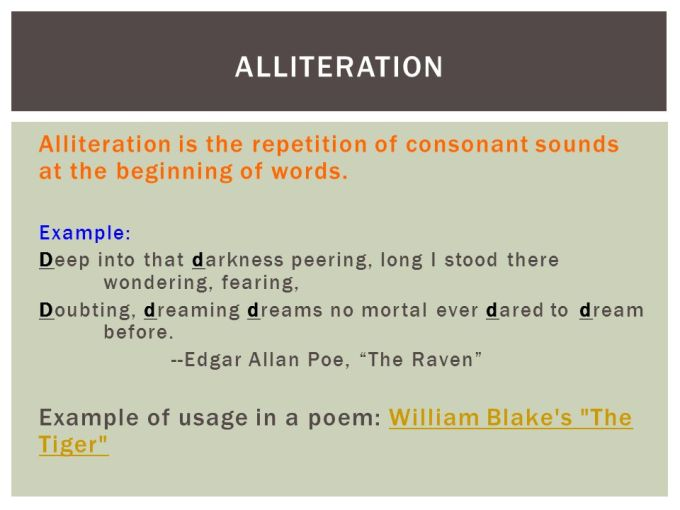 Alliteration Example In Poetry Choice Image Example Cover Letter