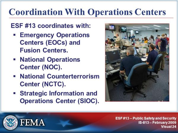 IS-813: ESF #13 – Public Safety and Security - ppt video ...