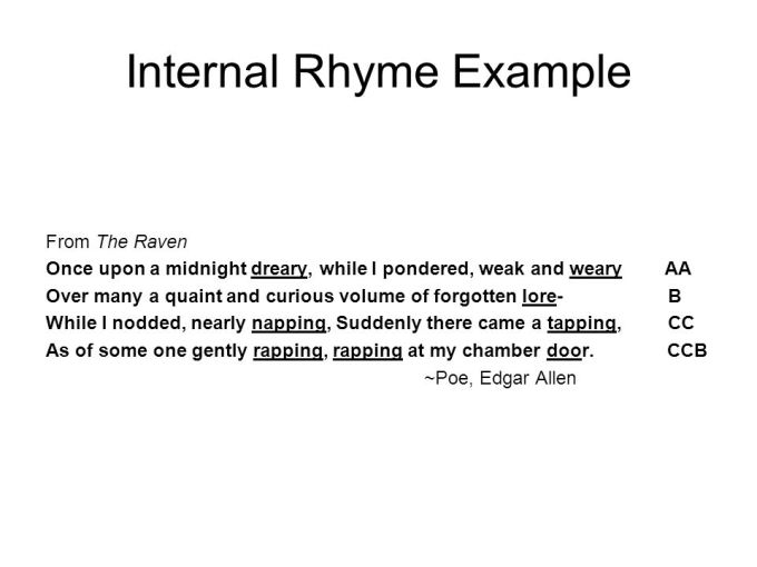 Example Of A Poem With Internal Rhyme Textpoems