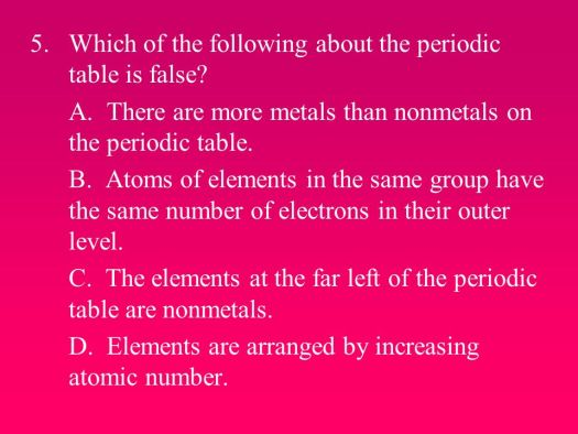 The periodic table is arranged by increasing atomic number true or arranged by increasing atomic number which of the following about periodic table is false urtaz Choice Image
