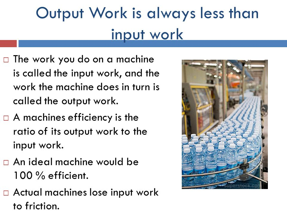 Work Input And Output Work