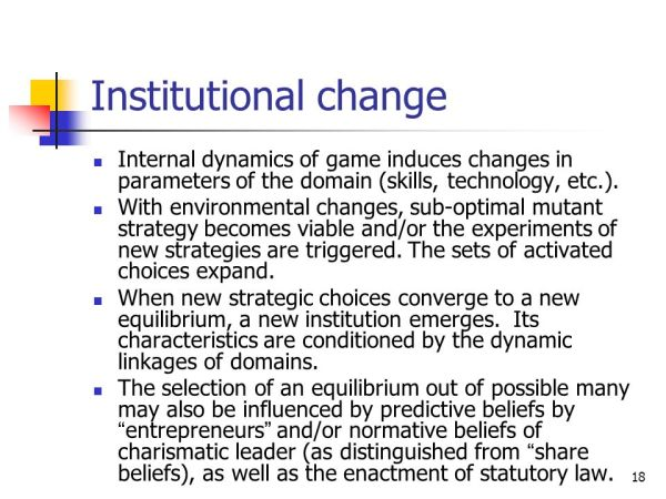 Conceptualizing the Dynamics of Institutional Change - ppt ...