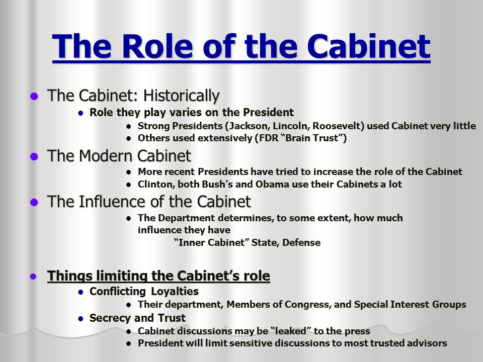 Superior What Is The Main Function Of President S Cabinet Digitalstudiosweb Com