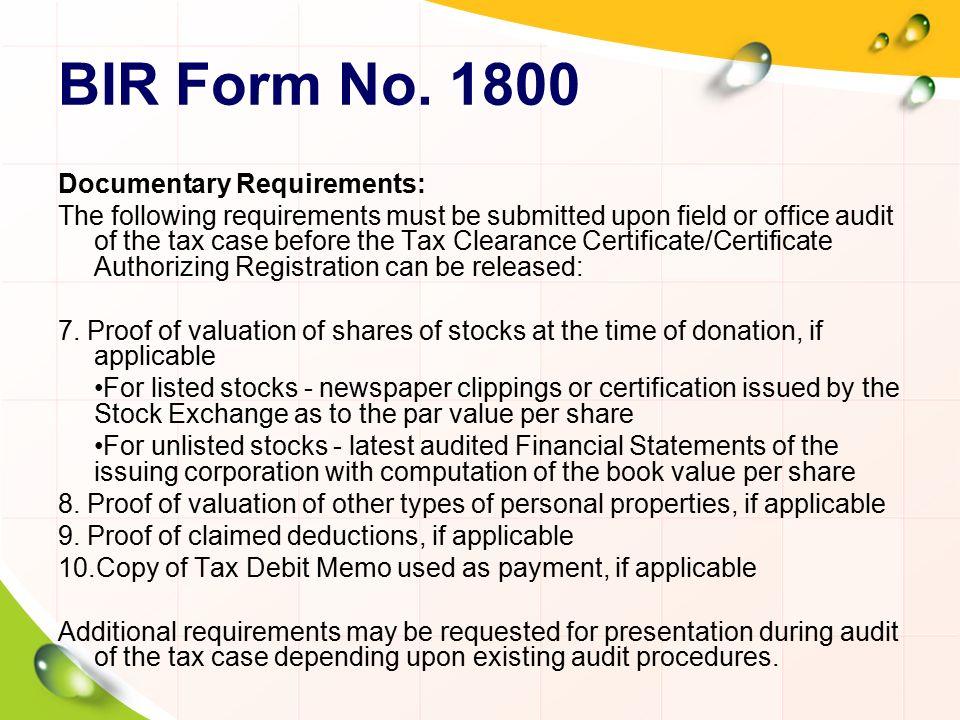 Personal Bank Certificate