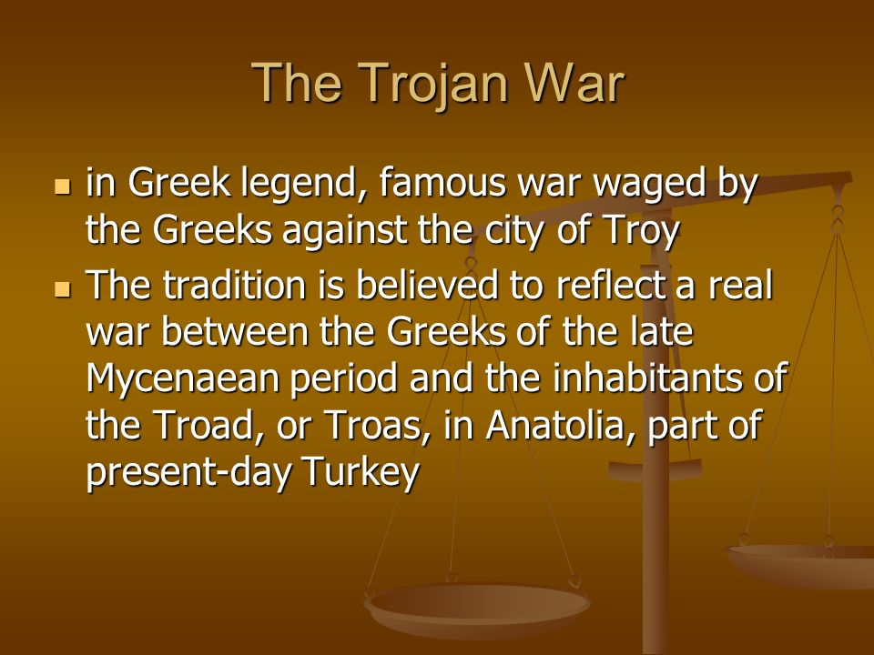 Trojan War Greeks Vs Troy
