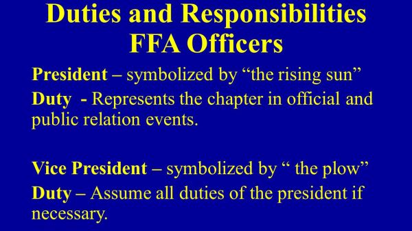 History of the FFA The initial idea for forming the ...
