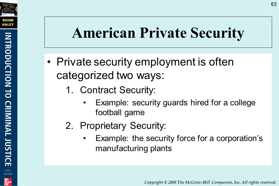Private Security Employment