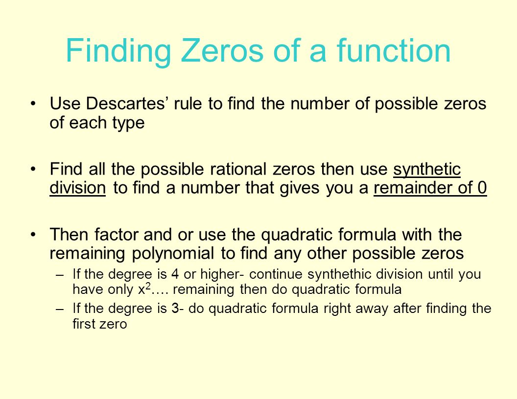 Polynomial Functions And Inequalities