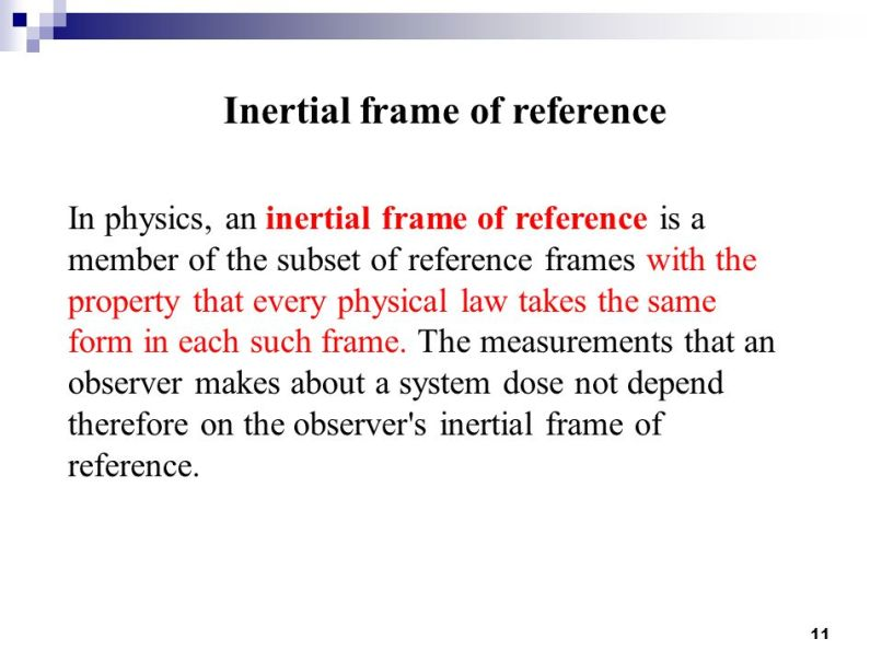 Contemporary What Is A Frame Of Reference Physics Image - Custom ...