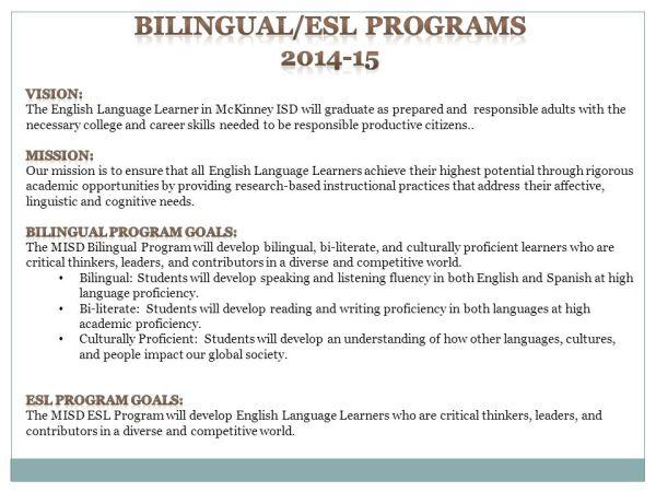 McKinney ISD Bilingual/ESL Programs - ppt video online ...