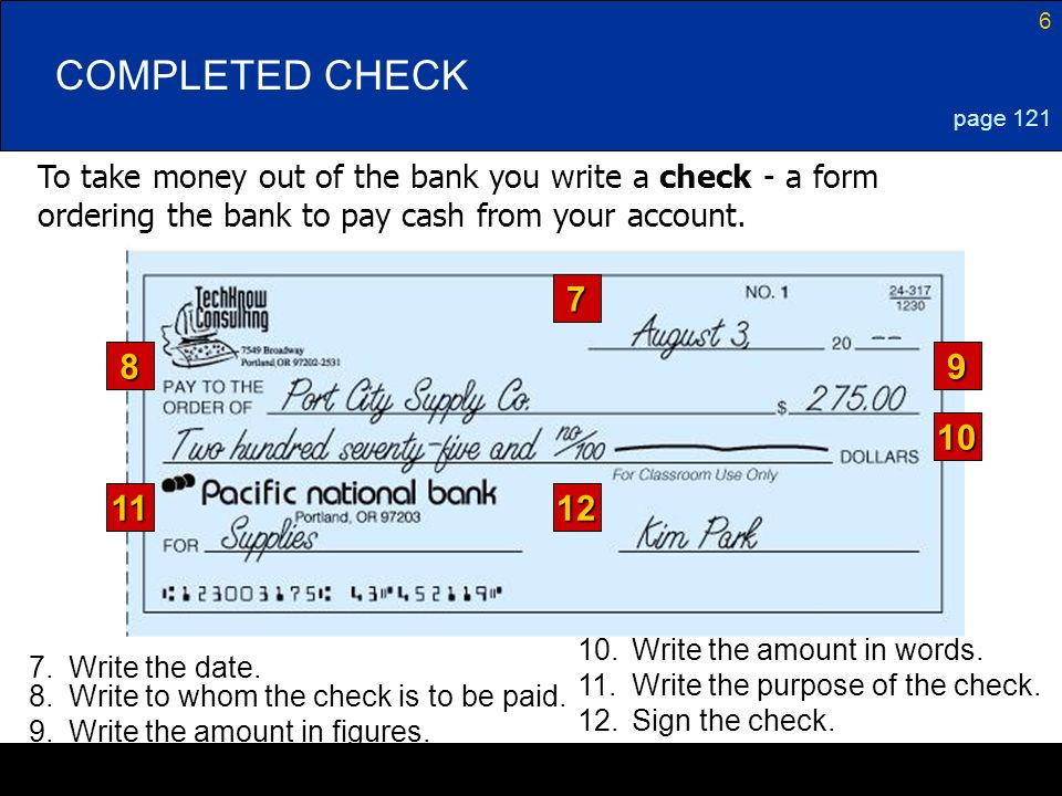 can you write a check with no money in account