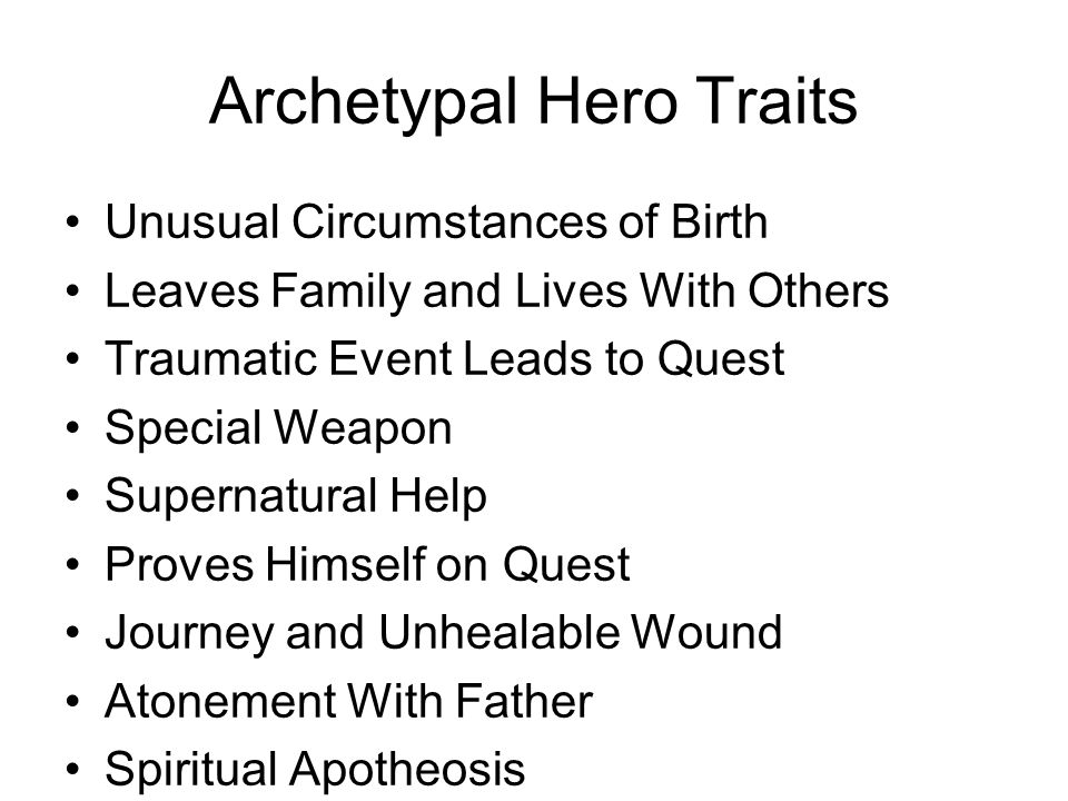 unhealable wound archetype examples