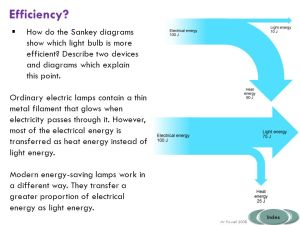 Energy efficiency Some might: all must: most should