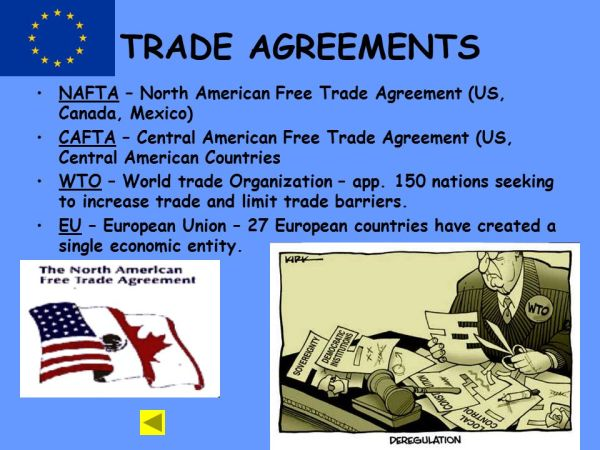 Unit 7 -TRADE International Trade Vocabulary Free Trade ...