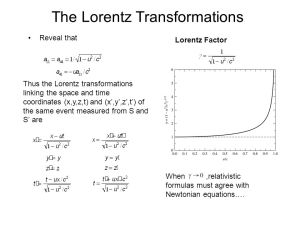 Special Relativity The Failure of Galilean Transformations  ppt video online download