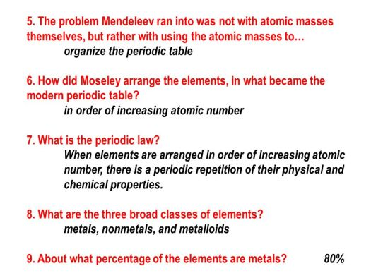 The modern periodic table is arranged in order of increasing unit 4 the periodic table and periodicity ppt online urtaz Gallery