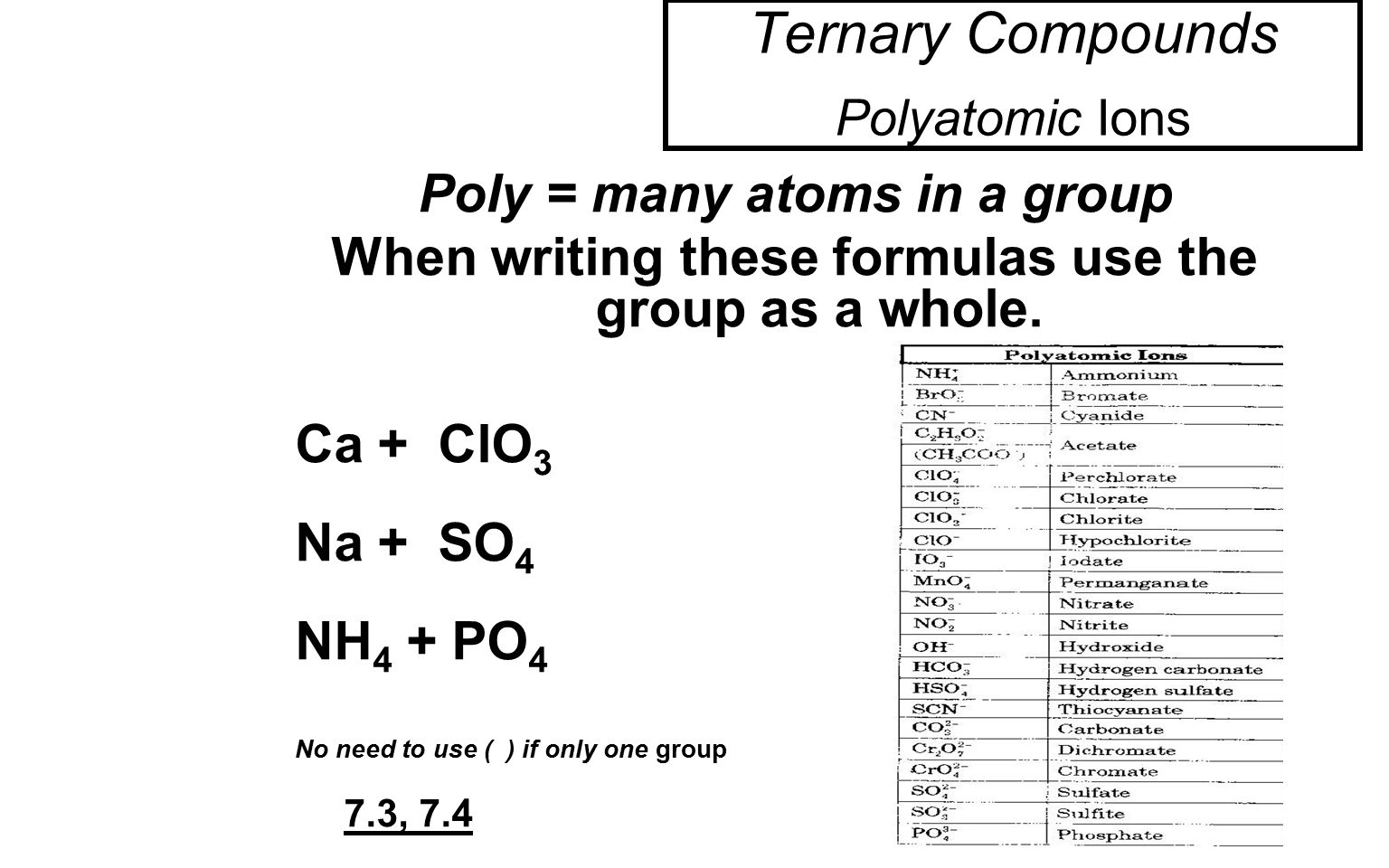 Binary Ionic Molecular Compounds Worksheet A Side 1