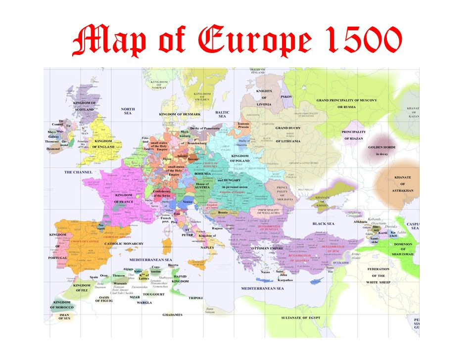 Map Europe 1500s