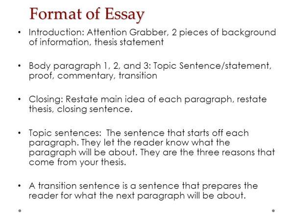 3 paragraph essay ppt