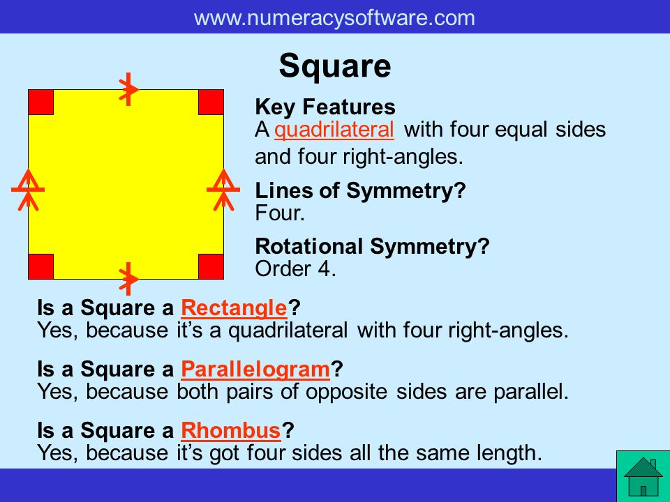 Quadrilateral Key Features A Shape With Four Sides Lines