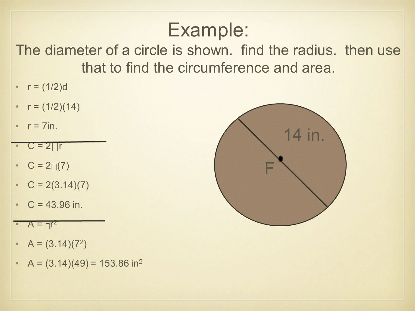 Area Of Circle Given Circumference Pictures To Pin On