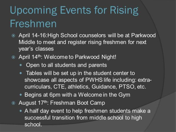 PARKWOOD HIGH SCHOOL Class of ppt download