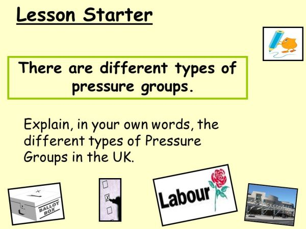 There are different types of pressure groups. - ppt video ...