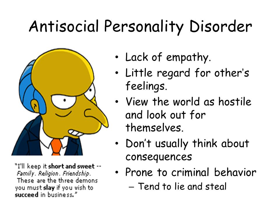 Image result for antisocial personality disorder