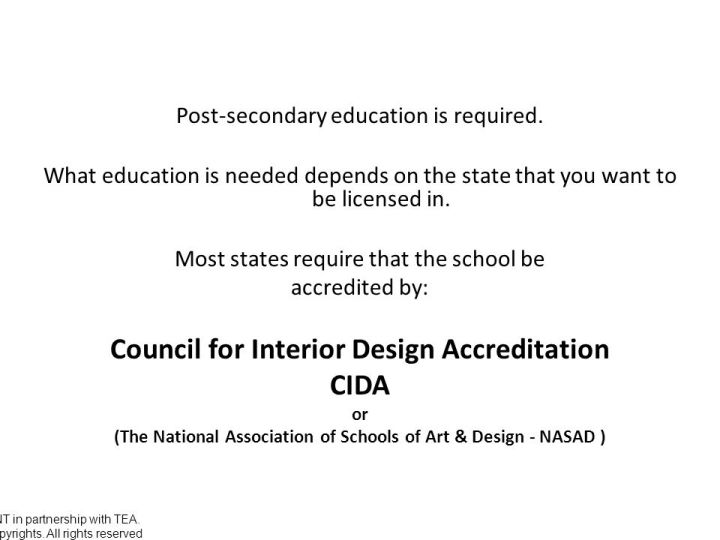 Cida Accredited Interior Design Schools how long does it take to get an interior design license
