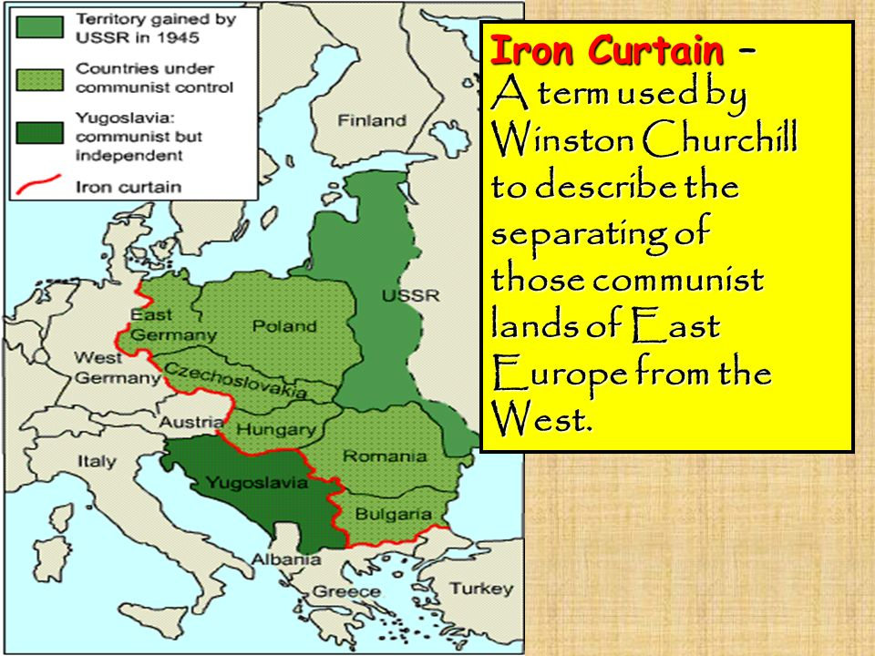 Explain The Term Iron Curtain Savae Org